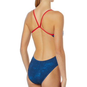 TYR Live Free Cutoutfit Traje de baño Mujer, red/white/blue